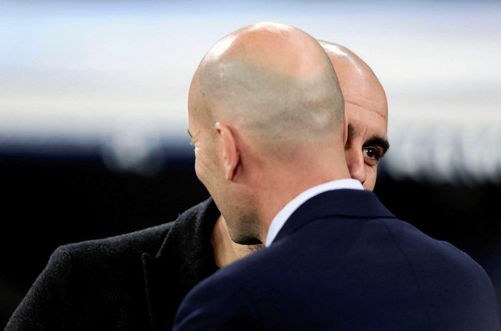Liga Mistrzów. Pep Guardiola i Zinedine Zidane przed pierwszym meczem Manchesteru City i Realu Madryt