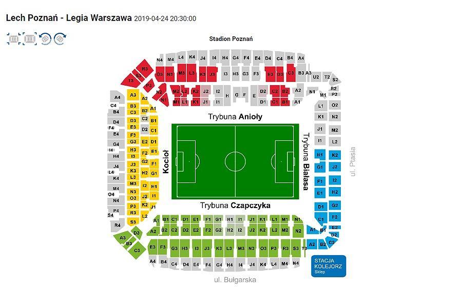 Bilety na mecz Lech Poznań - Legia Warszawa