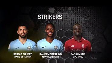 Napastnicy z drużyny roku Premier League