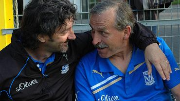 Eugeniusz Głoziński i były trener Lecha Poznań Jose Bakero