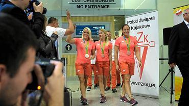 Powrót medalistek olimpijskich z Rio do Poznania. Marta Walczykiewicz, Karolina Naja, Beata Mikołajczyk