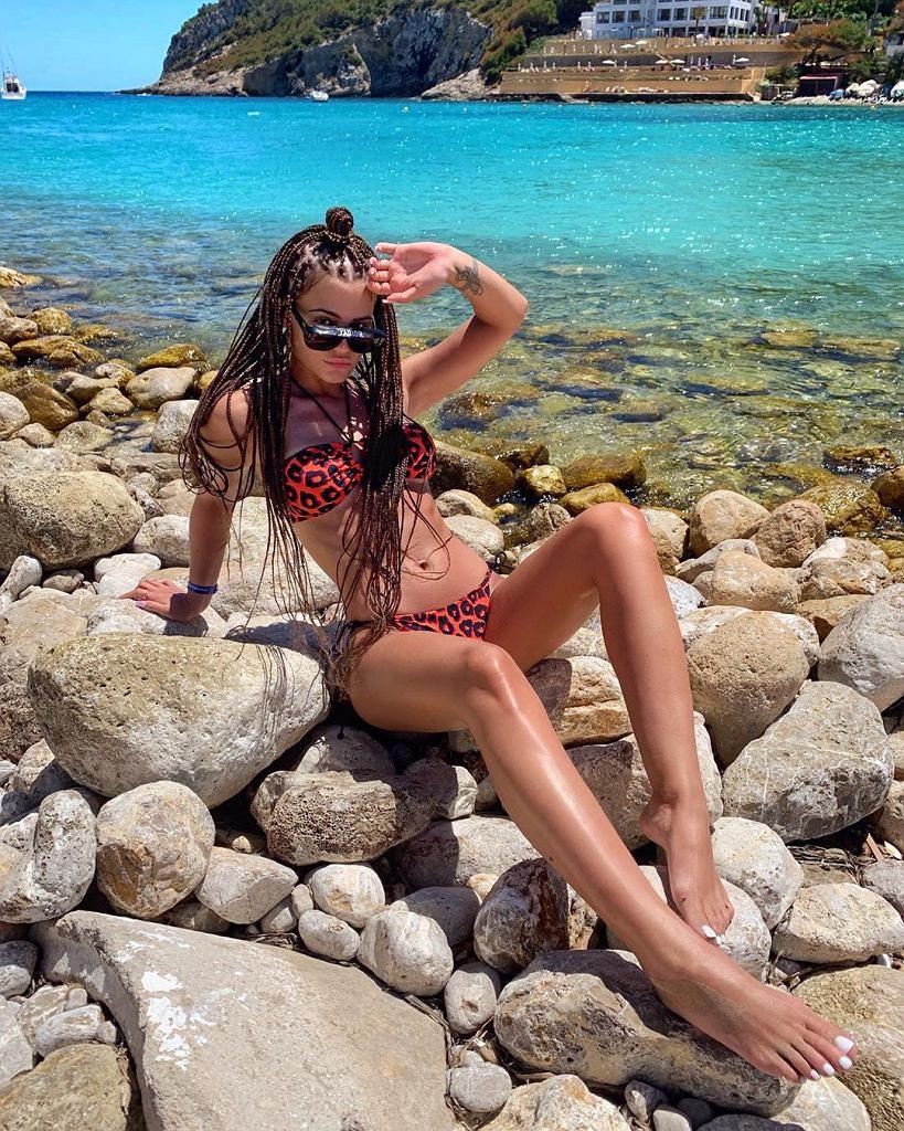 Honorata Skarbek na wakacjach na Ibizie