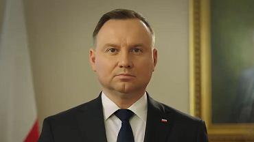 Prezydent Andrzej Duda. Orędzie prezydenta. 10. rocznica katastrofy smoleńskiej.