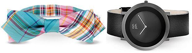 Trendy 2013: wiosenny styl, styl, moda męska, mucha z kolekcji Digel, bawełna. Cena: 189 zł, zegarek am:pm/Apart. Cena: 350 zł