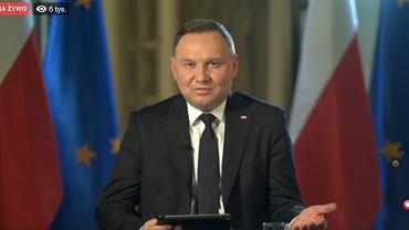 Andrzej Duda podczas Q&A