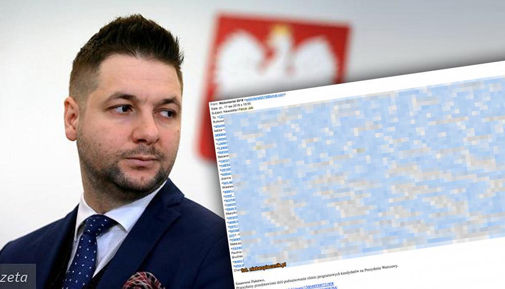 Patryk Jaki będzie musiał wyjaśnić swoim zwolennikom dlaczego ich adresy e-mail wyciekły do sieci