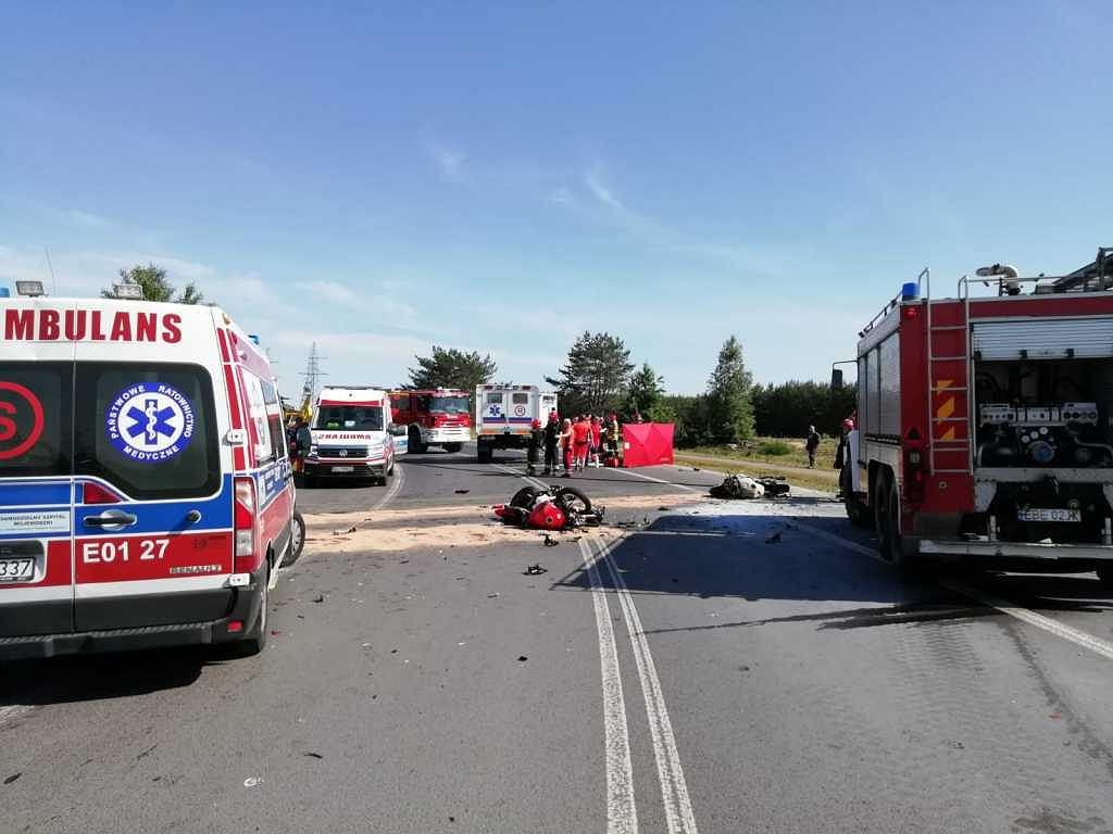 Śmiertelne zderzenie dwóch motocyklistów