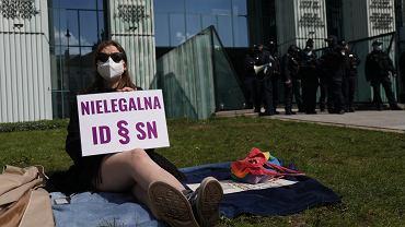 Protest przed Sądem Najwyższym w związku z posiedzeniem Izby Dyscyplinarnej