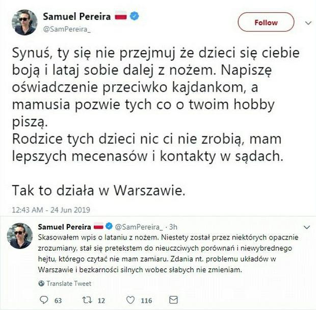 Wpisy Samuela Pereiry