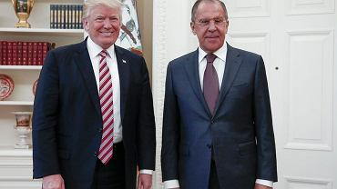 Prezydent USA Donald Trump spotyka się z rosyjskim ministrem spraw zagranicznych Siergiejem Ławrowem. Biały Dom, Waszyngton, 10 maja 2017