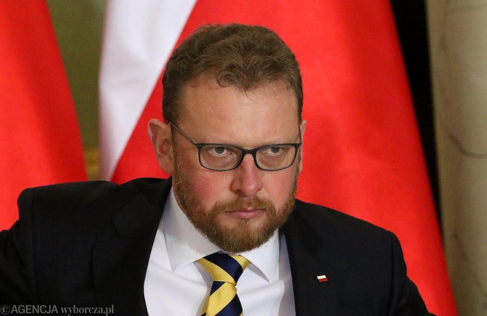 9.01.2018, minister zdrowia Łukasz Szumowski.