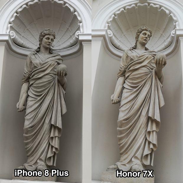 Honor 7X i iPhone 8 Plus - porównanie aparatów