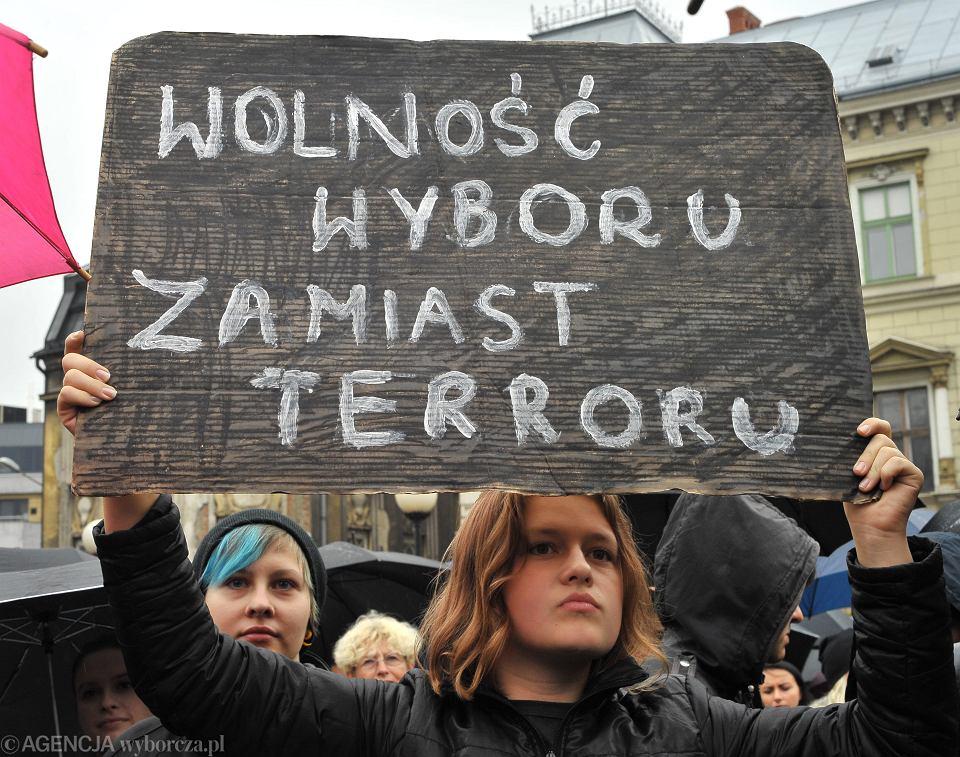 'Czarny poniedziałek', strajk kobiet, Bielsko-Biała