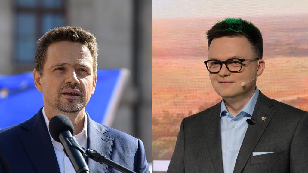 Rafał Trzaskowski i Szymon Hołownia