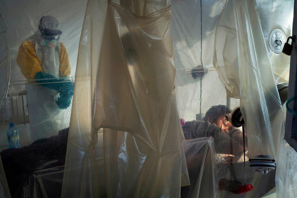 Centrum leczenia wirusa Ebola w Beni w Kongo, 13 lipca 2019.