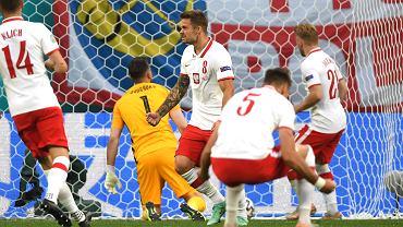 Karol Linetty - gol podczas meczu Polska - Słowacja na Euro 2020. St. Petersburg, 14 czerwca 2021