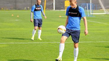 Lech Poznań trenuje przed meczem z Belenenses Lizbona w Lidze Europejskiej. Piotr Kurbiel