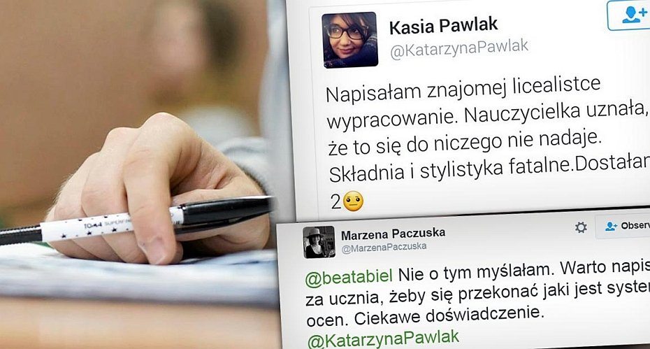 Pracownica KPRP przyznała, że pomagała pisać pracę licealistce.