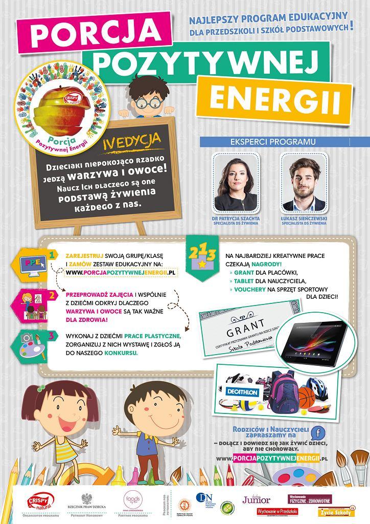 PORCJA POZYTYWNEJ ENERGII - edukacja przez zabawę