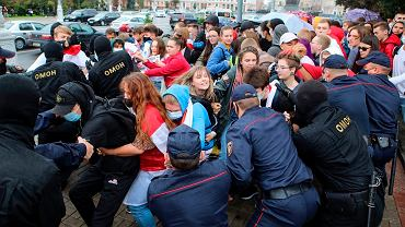 1.09.2020, Mińsk, protest studentów