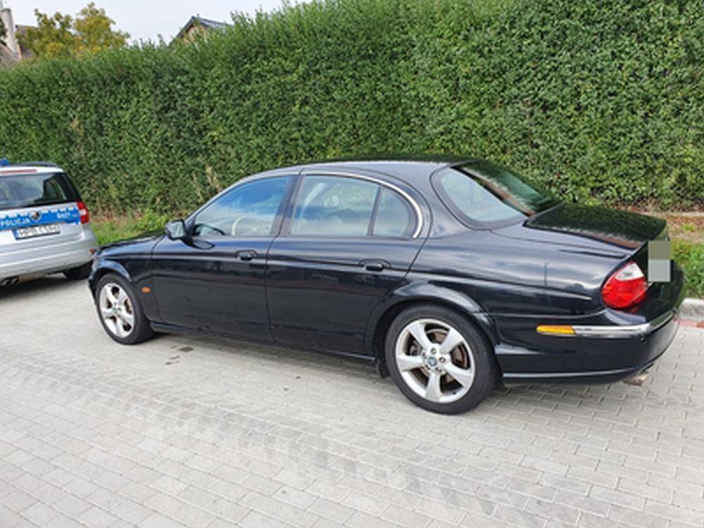 Jaguar odzyskany przez policję
