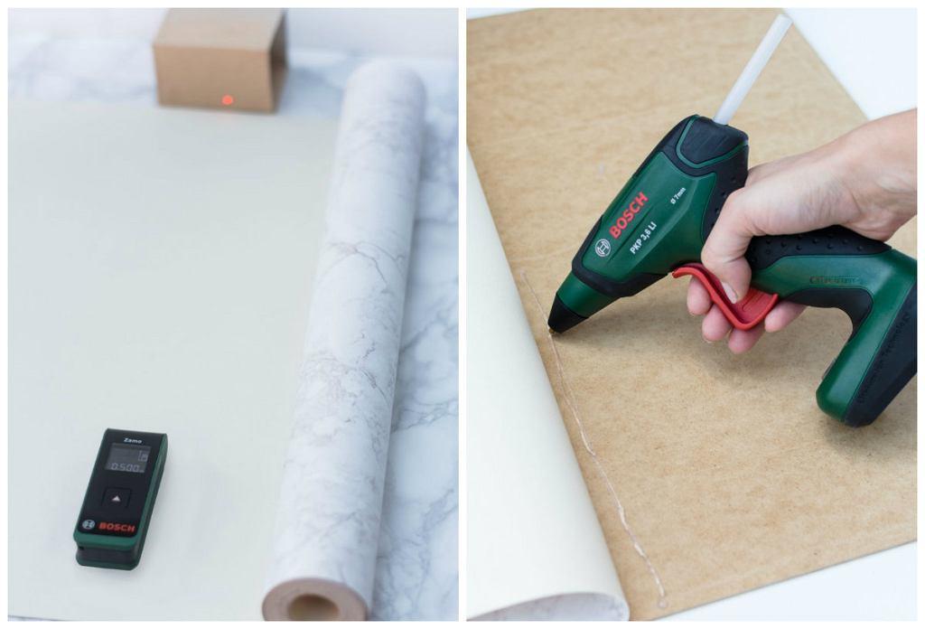 Odcinanie i przyklejanie tapety