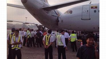Zderzenie dwóch airbusów na płycie lotniska w Birmie