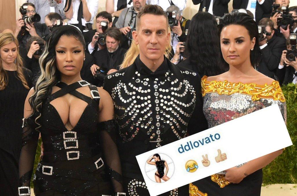 Nicki Minaj, Jeremy Scott. Demi Lovato