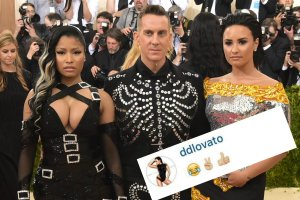 Nicki Minaj, Jeremy Scott. Demi Lovato