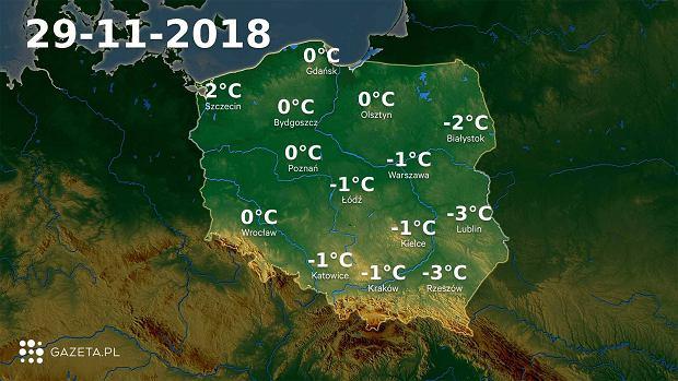 Pogoda na dziś. Najcieplej na północnym zachodzie, najzimniej na w górach i na Suwalszczyźnie