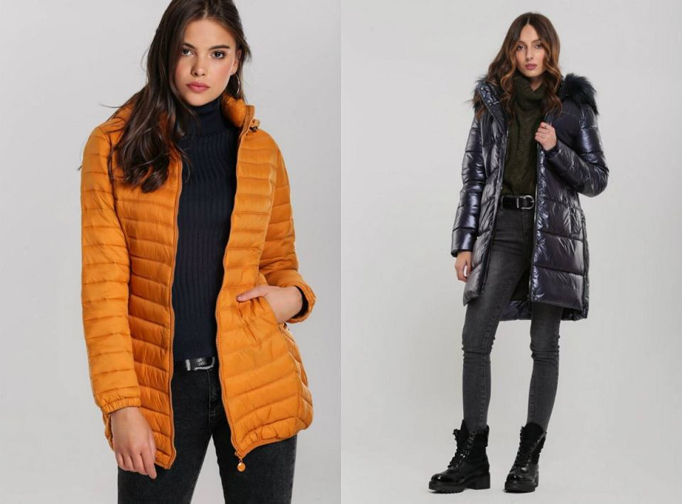 Pikowane kurtki w jesiennych kolorach