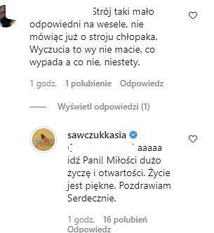 Katarzyna Sawczuk odpowiada na komentarze