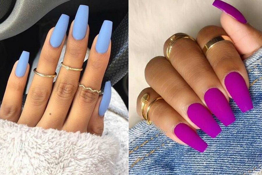 Matowe paznokcie w soczystych kolorach