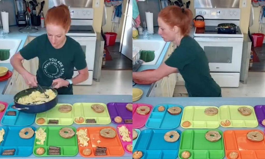Matka 10 dzieci pokazuje w sieci, jak przygotowuje posiłki dla rodziny