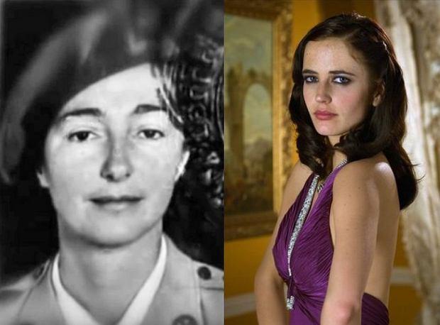 Po lewej Krystyna Skarbek, po prawej Eva Green jako Vesper w 'Casino Royale'