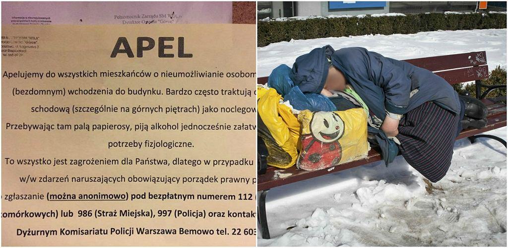 Apel spółdzielni dotyczący osób bezdomnych