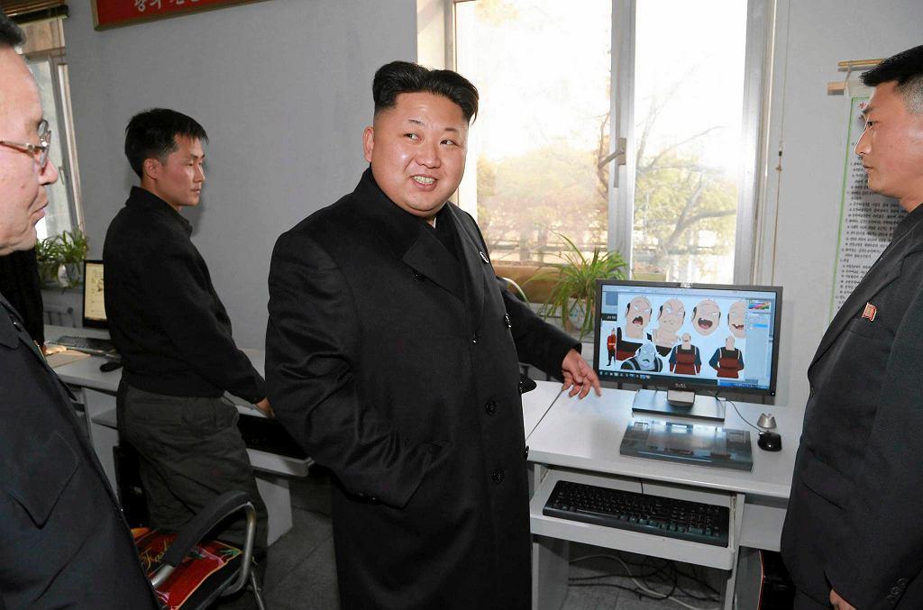 Kim Dzong Un w północnokoreańskiej wytwórni filmów animowanych