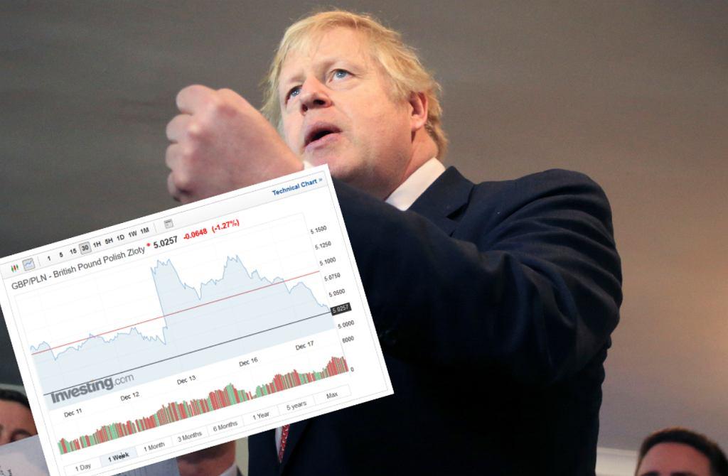 Boris Johnson topi kurs funta.