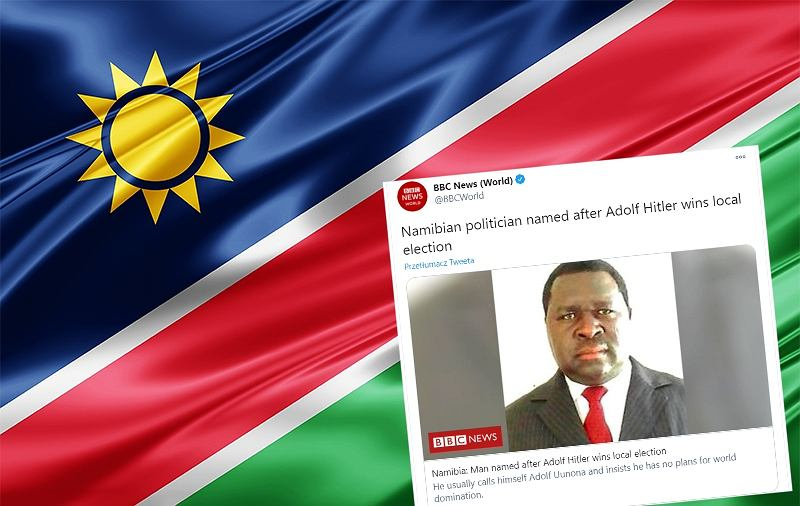 Wybory lokalne w Namibii wygrał polityk o nazwisku Adolf Hitler