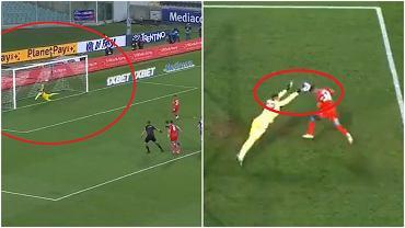 Bartłomiej Drągowski w meczu Fiorentina - Napoli