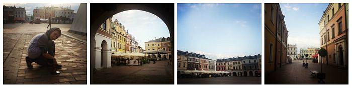 Wieczorny Zamość ma w sobie wiele uroku. Poza sezonem i w tygodniu ulice Starego Miasta i plac Rynku Wielkiego niemal zupełnie pustoszeją