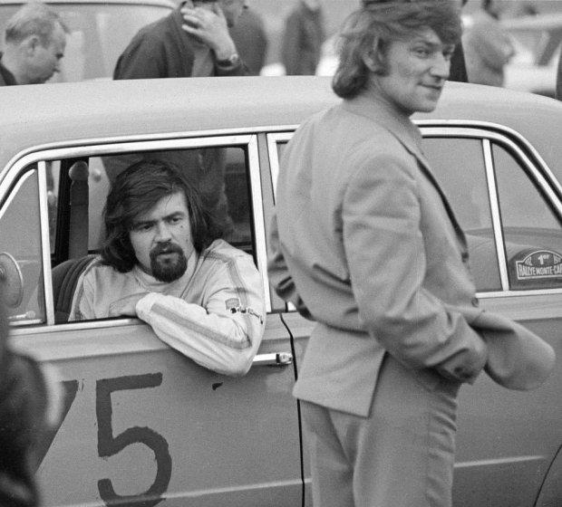 Andrzej Jaroszewicz podczas wyścigu w Toruniu 29.04.1973