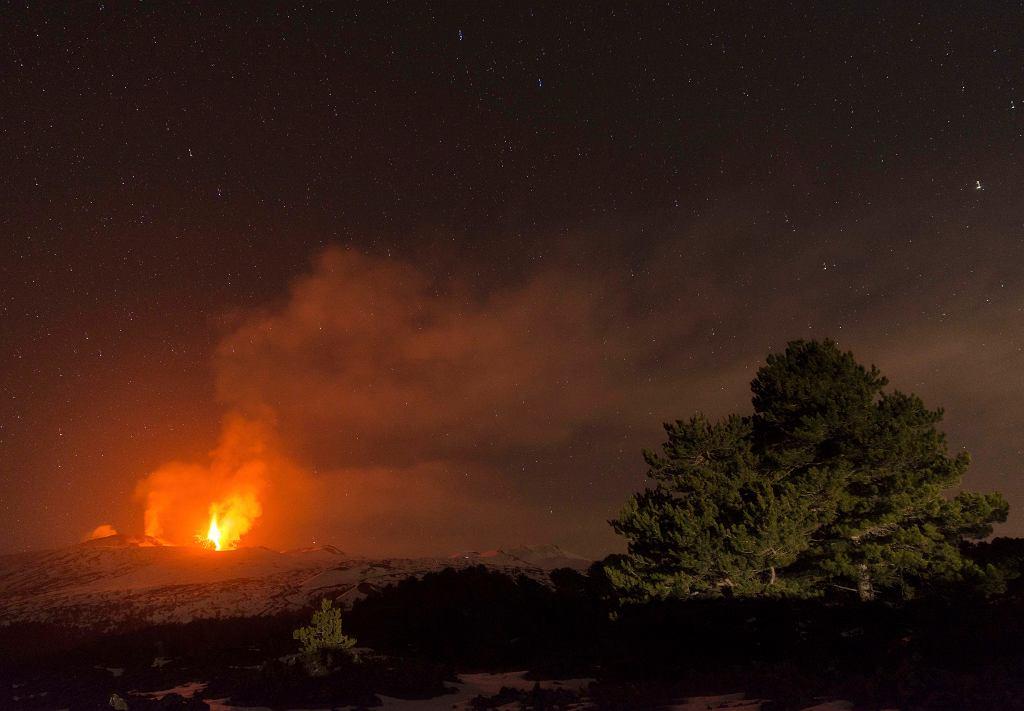 Pierwsza erupcja Etny w 2017 roku