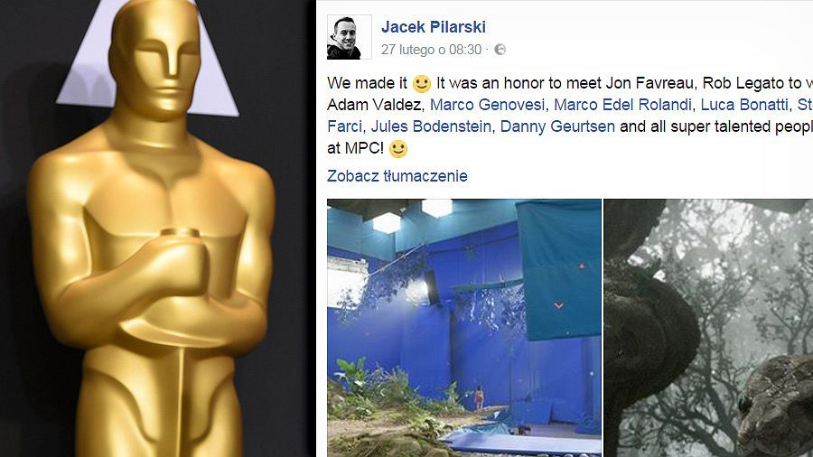 Oscar i wpis Jacka Pilarskiego na Facebooku