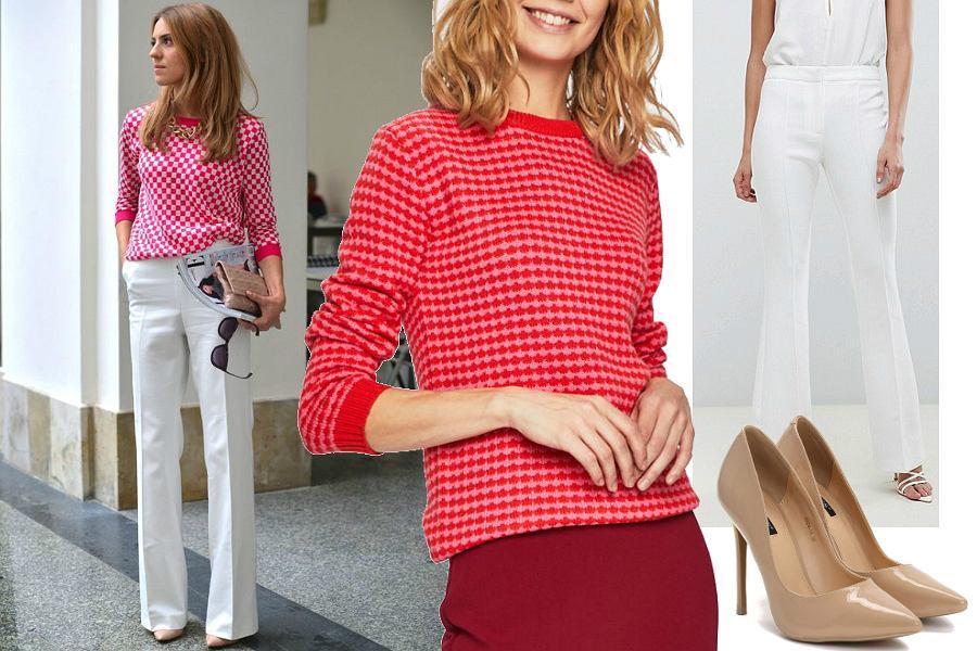 4c7a8054e4b44 Kasia Tusk w bardzo modnym zestawie na wiosnę. Wiemy, gdzie dostać podobne  sweterki i spodnie w niskiej cenie!