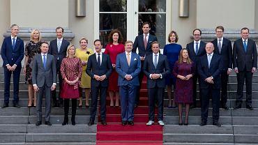 Rząd Holandii, który podał się do dymisji (zdjęcie z 2017 roku)