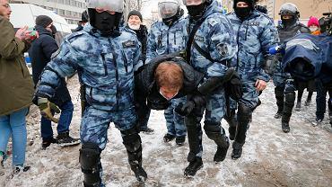 Rosja. Zatrzymania na protestach