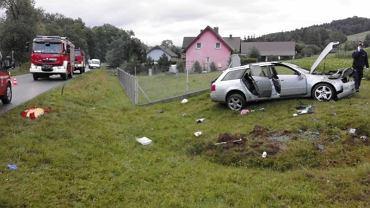 Wypadek w miejscowości Krużlowa Niżna / zdjęcie ilustracyjne