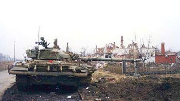 Serbski czołg w Vukovarze, 1991 r.
