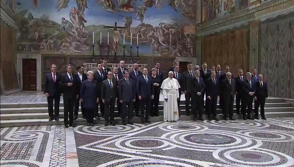 Unijni przywódcy na audiencji u papieża Franciszka